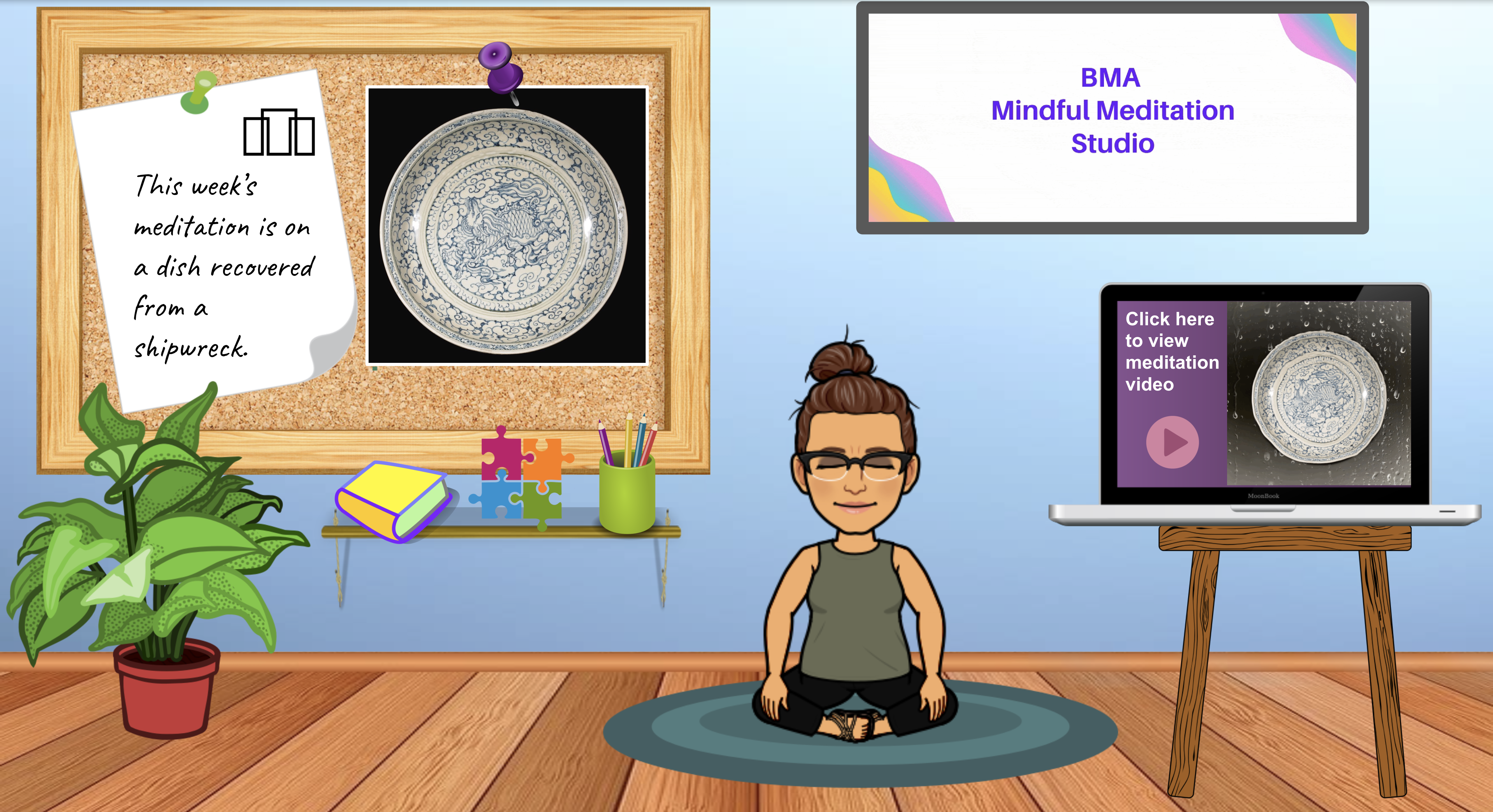 Interactive Meditation Studio – Dish Recovered from a Shipwreck