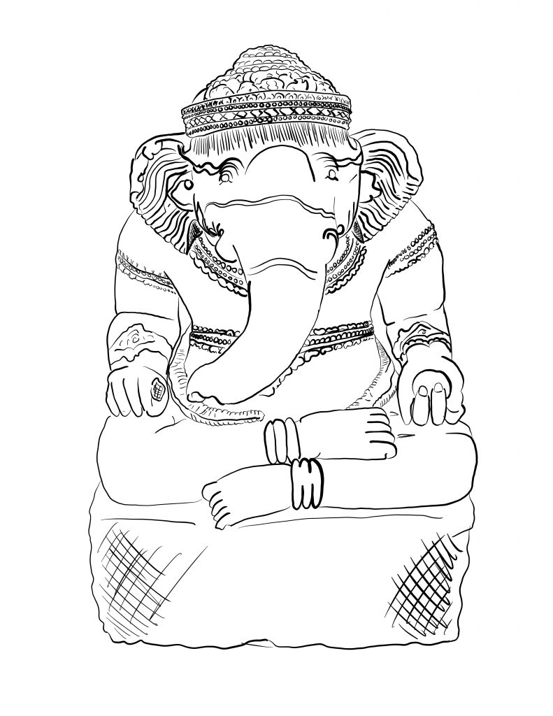 Coloring Outside the Lines - Ganesha