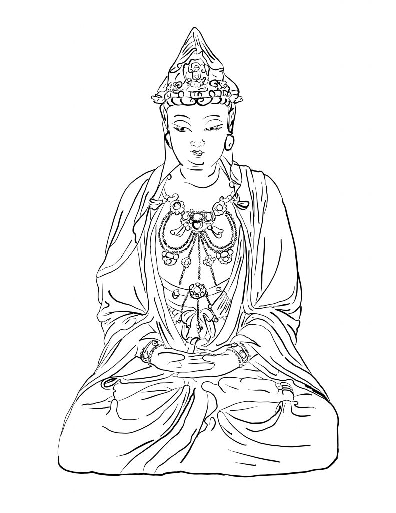 Coloring Outside the Lines - Guanyin